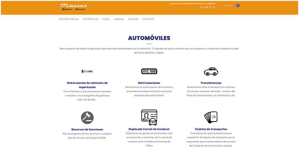 Diseño de web corporativa para consultoría