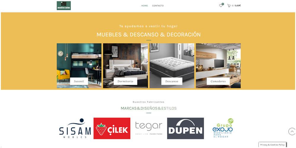 Desarrollo de tienda online para tienda de muebles