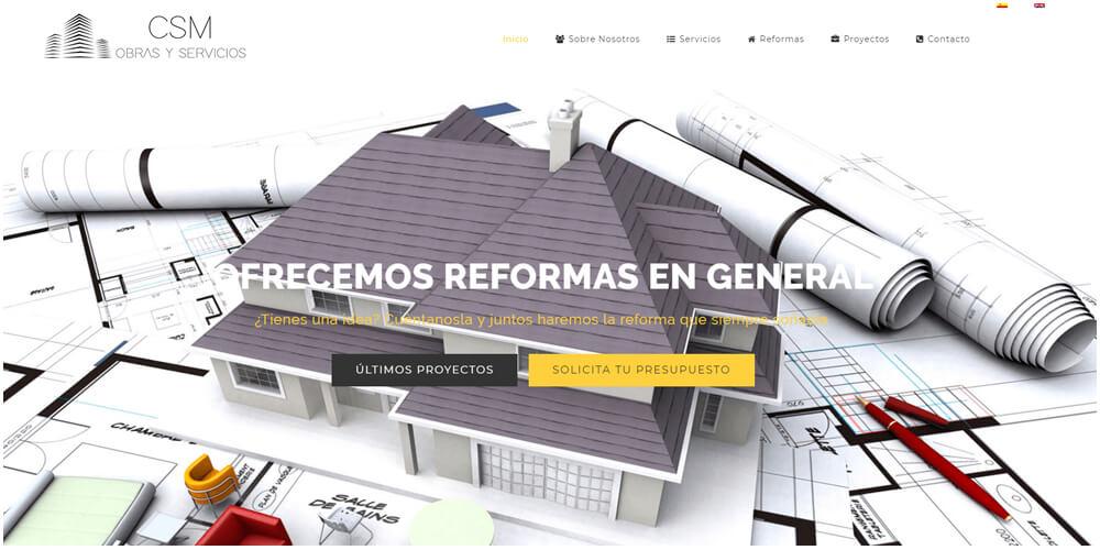 Diseño de web corporativa para empresa de construcción y reformas