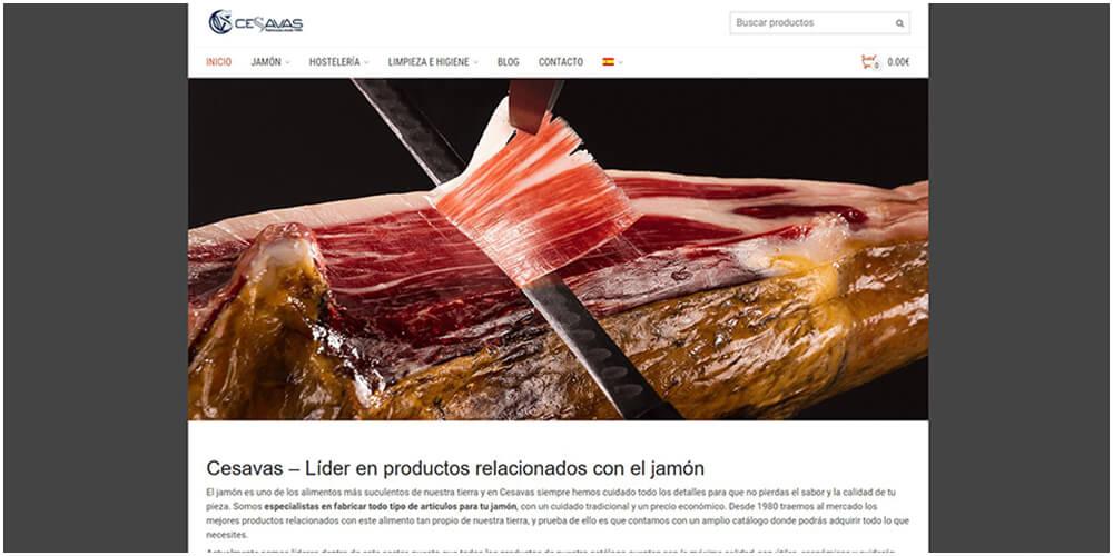Diseño de tienda on-line de productos para la hostelería y accesorios para jamón