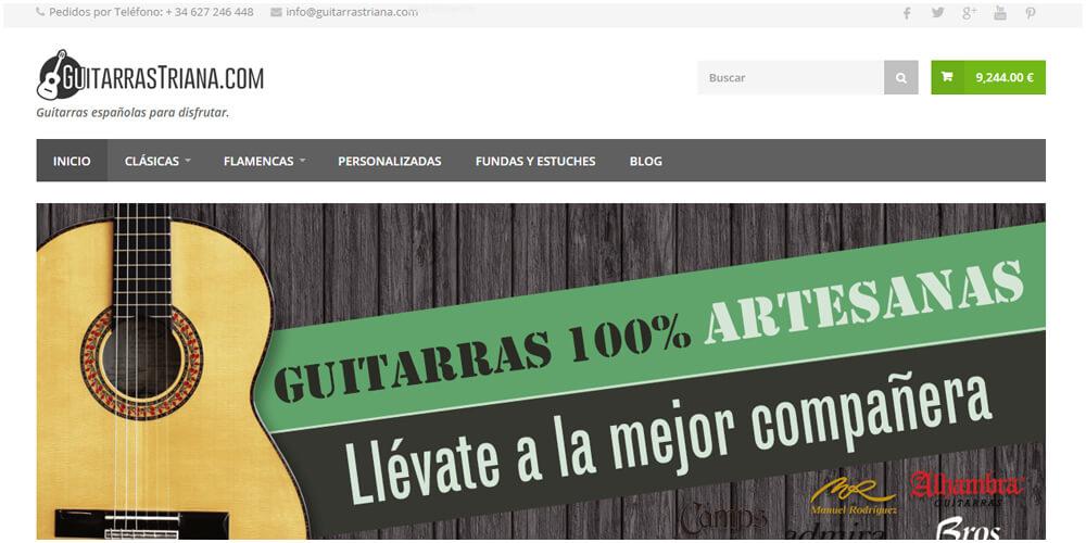 diseño de tienda online de guitarras